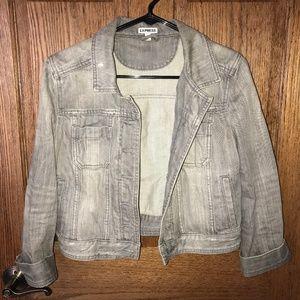 Express cropped jean jacket